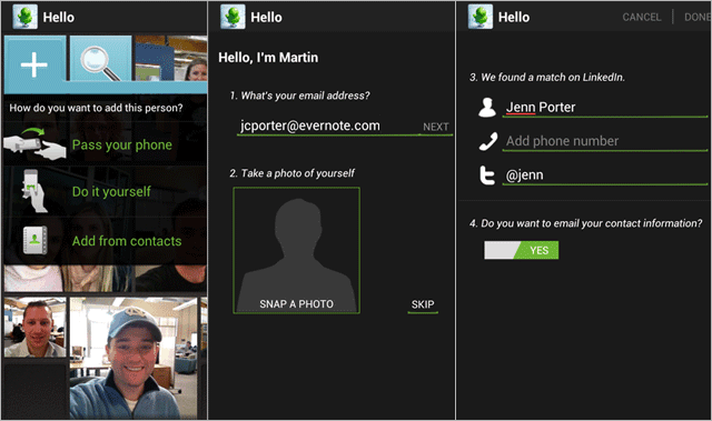Evernote Hello for Android